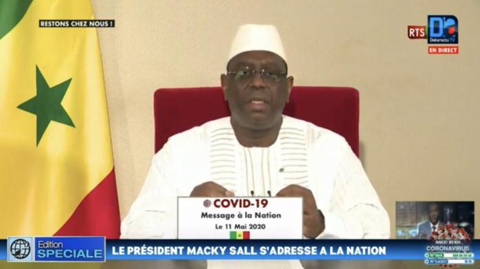SÉNÉGAL: Le President Macky Sall annonce le réaménagement des horaires du couvre-feu, l'ouverture des lieux de culte et des marchés.