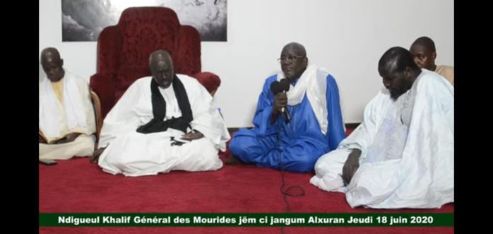 """HIVERNAGE ET COVID-19/ Le Khalife Général des Mourides pour un """"Jeudi"""" spirituellement ponctué par des récitals de Coran."""