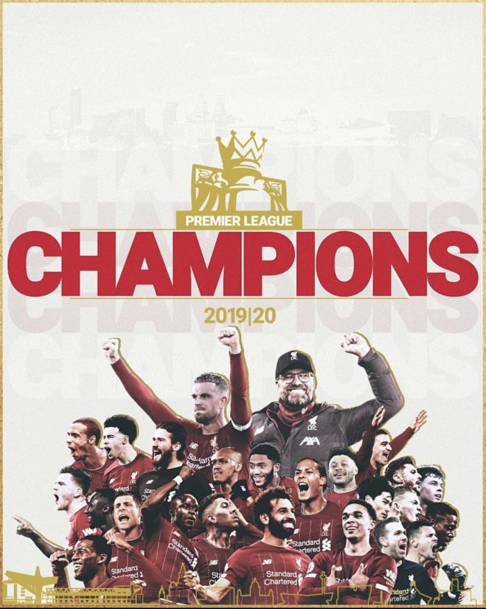 Premier League : Liverpool et Sadio Mané officiellement champions d'Angleterre !