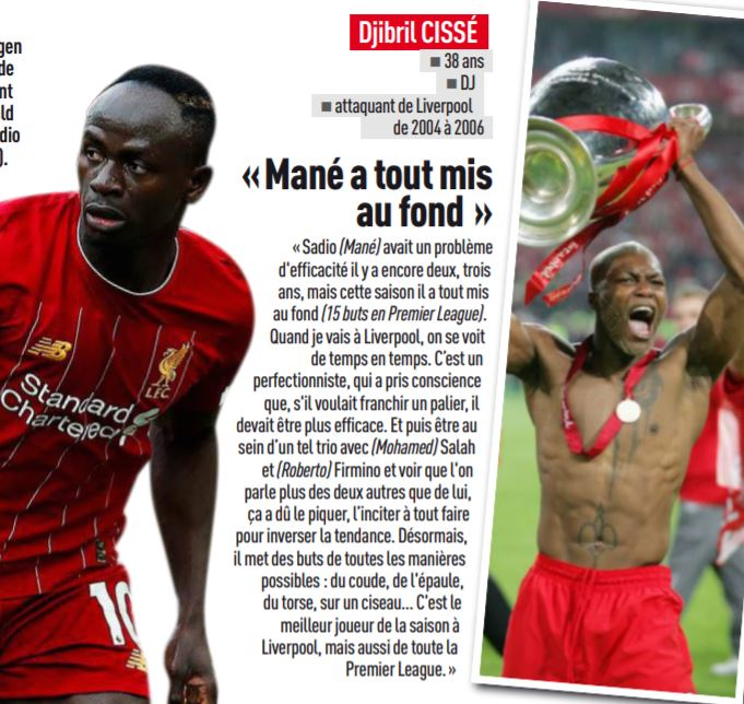 Sacre de Liverpool- Djibril Cissé encense Sadio Mané : « c'est le meilleur joueur de la saison à Liverpool, mais aussi de toute la Premier League… »