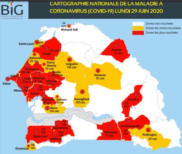 INDICE DE SÉVÉRITÉ DE LA COVID-19 : l'Asie enregistre le plus fort recul, suivie de l'Afrique, amélioration légère du Sénégal en un mois.