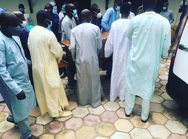 Levée du corps : L'ultime hommage rendu à l'ancien ministre Cheikh Sadibou Fall.