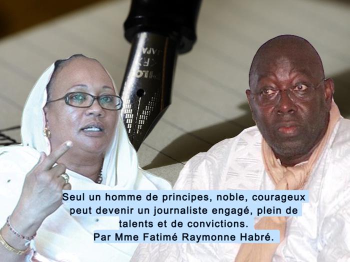 HOMMAGE A BABACAR TOURE : Seul un homme de principes, noble, courageux peut devenir un journaliste engagé, plein de talents et de convictions. (Par Mme Fatimé Raymonne Habré)