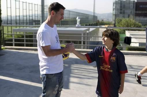 Rencontre entre footballeur