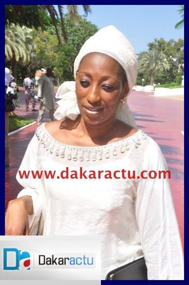 Voici Madame Seynabou GAYE TOURE, Ministre déléguée auprès du Ministre des Affaires étrangères et des Sénégalais de l'Extérieur, chargée des Sénégalais de l'Extérieur