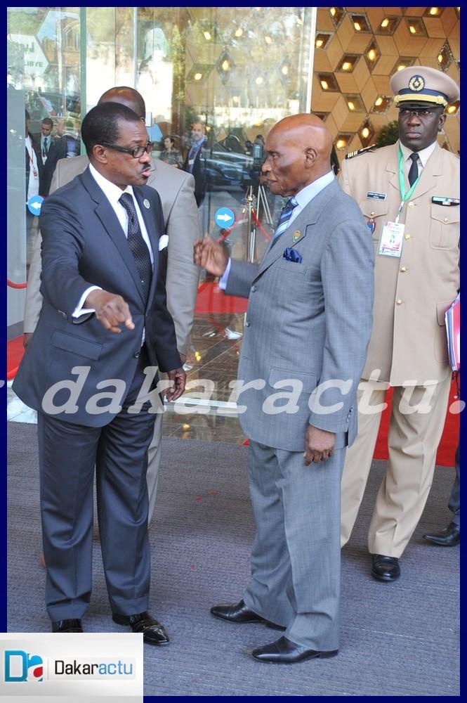Le président Abdoulaye Wade avec Madické Niang