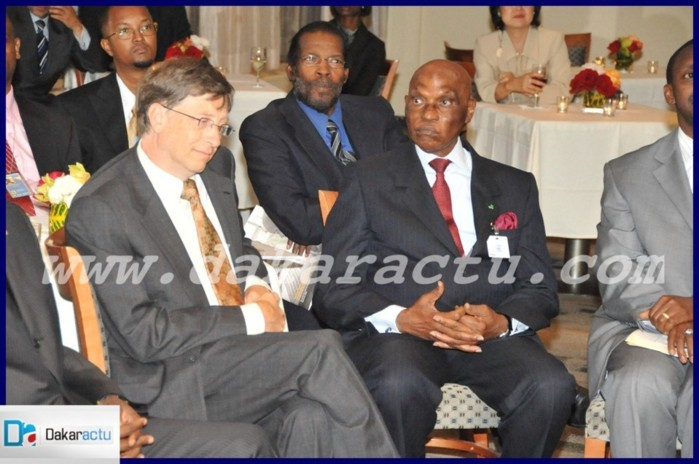 Me Abdoulaye Wade et Bill Gates