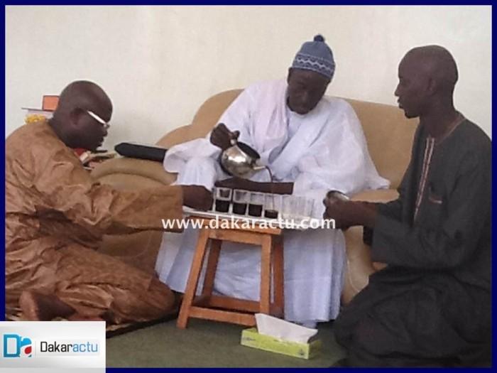 Les images de la visite d'Alioune Badara Cissé chez le Khalife général des mourides.