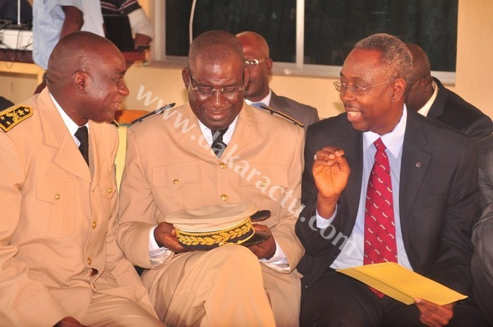 Le Gouverneur de Dakar Cheikh Ahmed Tidiane Ndoye et El hadj Ibrahima Sakho, le Préfet de Dakar