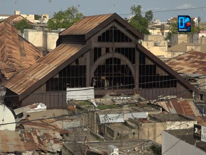 Kaolack : Images insoutenables de l'incendie qui a ravagé une partie du marché central.