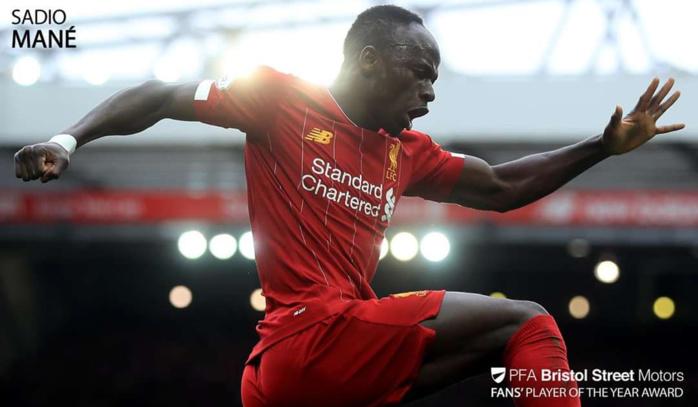 Premier League : Sadio Mané sacré meilleur joueur de la saison par les supporters.