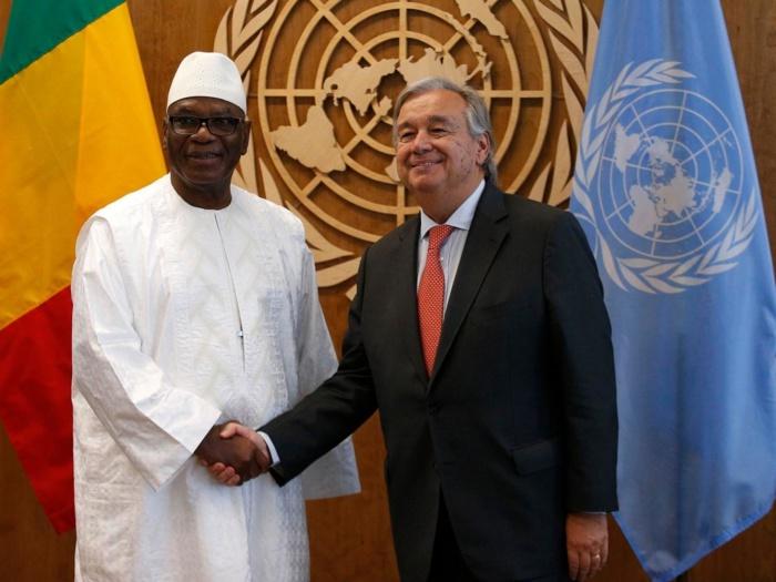 MALI : Le Secrétaire général des Nations Unies appelle au rétablissement immédiat de l'ordre constitutionnel et la libération du président IBK.