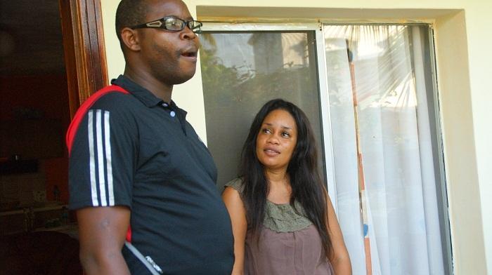 Ma Mané, l'ami et l'élément incontournable de la génération consciente en compagnie de Aicha l'épouse de Jimmy Mbaye
