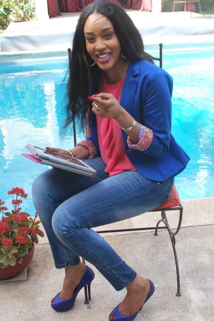La jet-setteuse et top model, Fatima Zahra a un très beau sourire