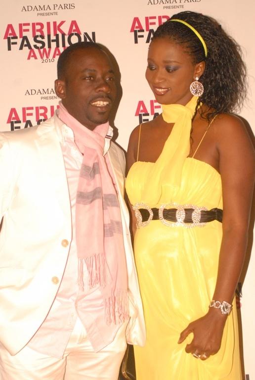 L'animateur du groupe Futurs médias, Dj Boub's accompagné de son épouse.