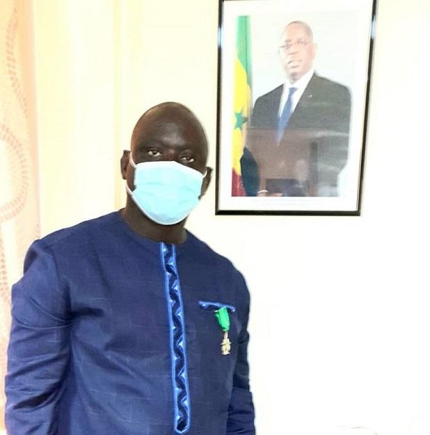Sport / Seydou Sané, Pdt  du Casa Sport, élevé au grade de Chevalier de l'Ordre National du Lion.