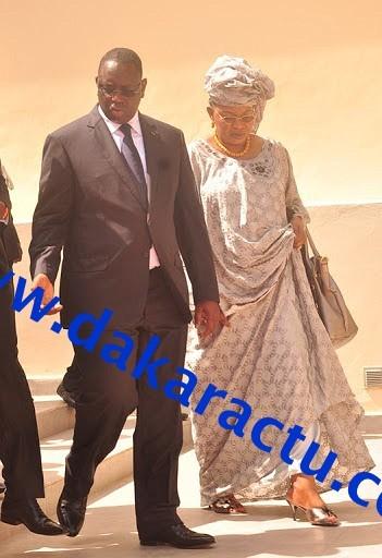 Le Président de la République, Macky Sall et Aida Mbodj