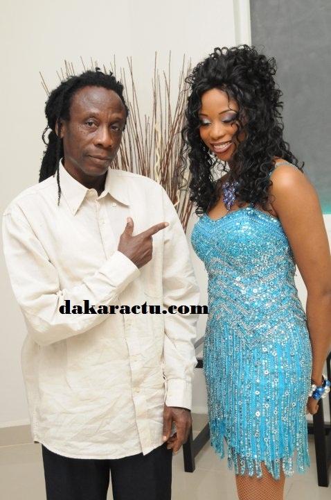 Père Ouza Diallo et sa fille Adjouza