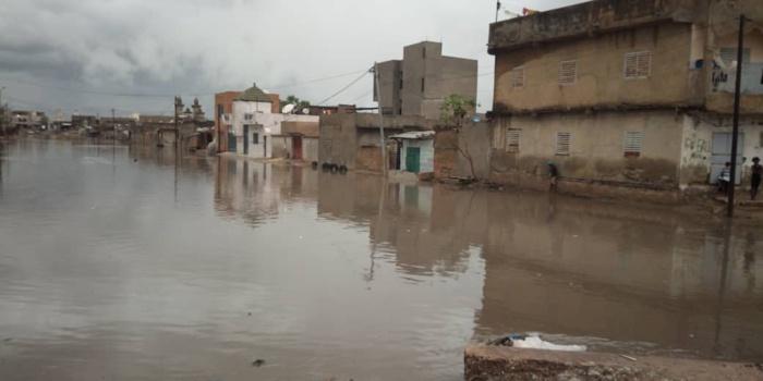 Inondations : Kaolack sous les eaux.
