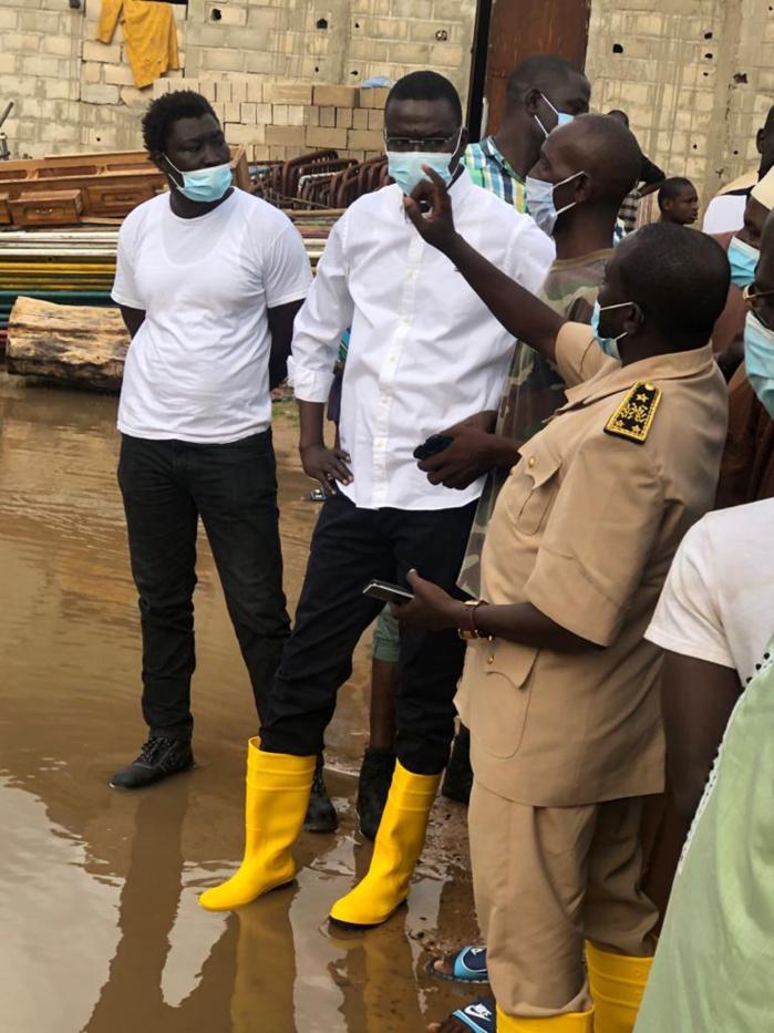 Inondation à Diourbel : Le ministre Dame Diop au chevet des sinistrés de son fief.