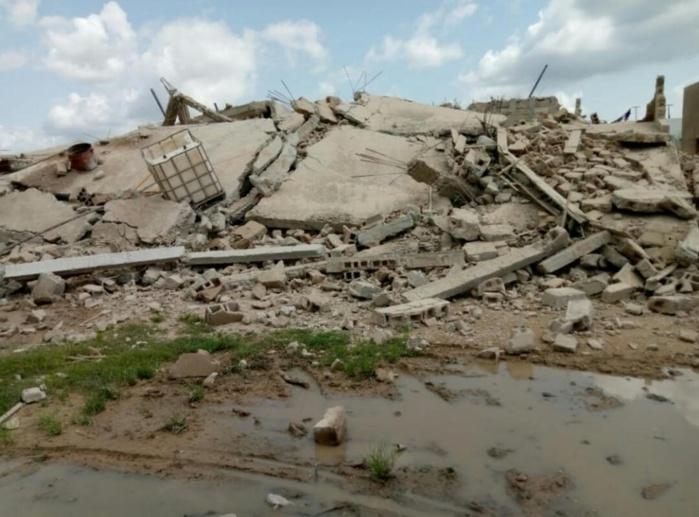 Kaolack : Un immeuble de 3 étages s'affaisse à Darou Ridwane.