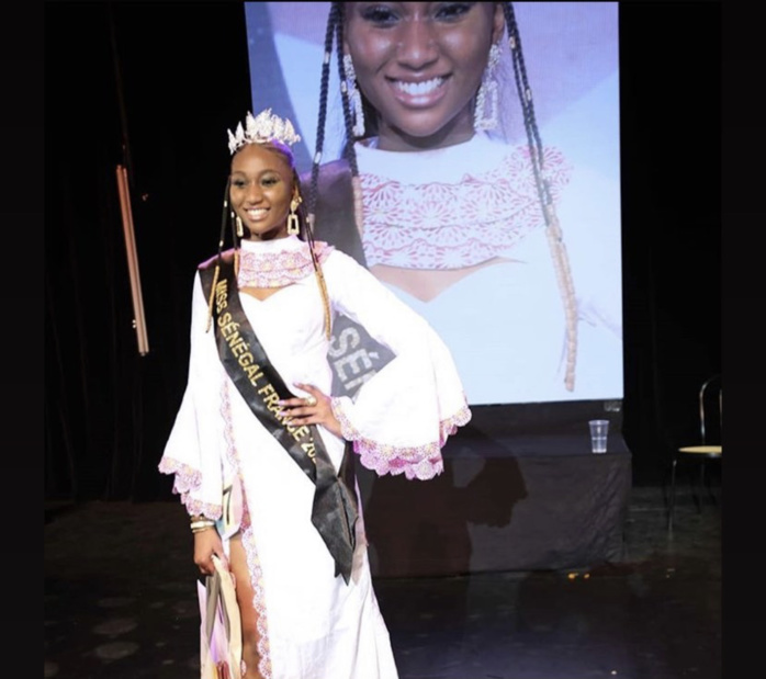 Paris : Rokhaya Sarr élue miss Sénégal en France 2020.