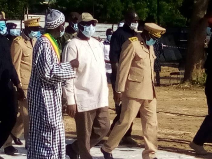 Kaffrine : Le chef de l'Etat a visité le projet de construction et d'équipement de la sphère administrative régionale.