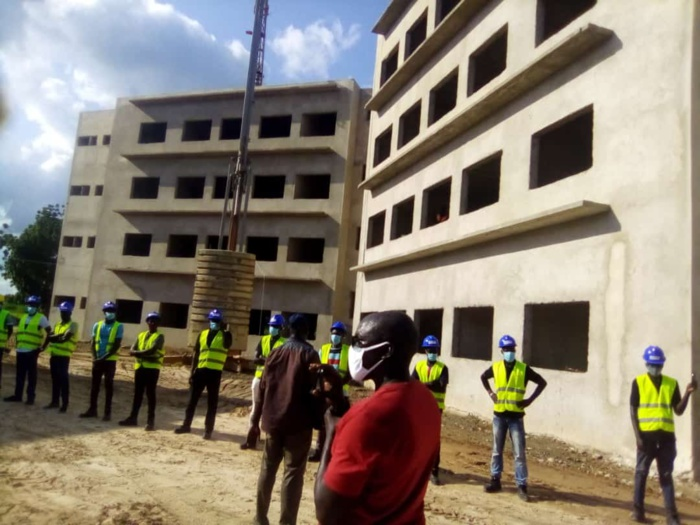 Kaffrine : Le chef de l'État a visité le projet de construction et d'équipement de la sphère administrative régionale.