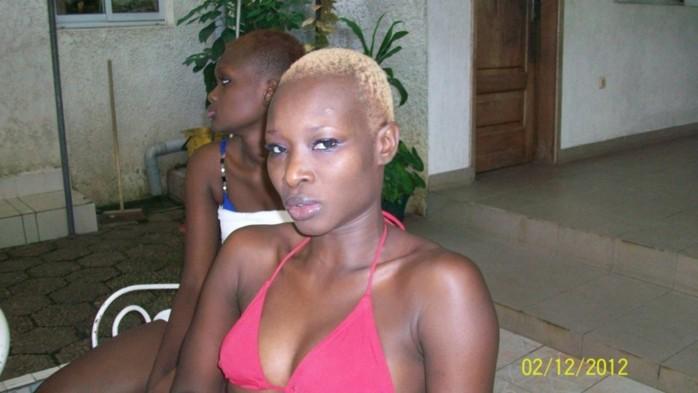 Le mannequin Fleur Mbaye avec son bikini dans un hotel de Douala