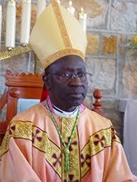 Le Cardinal Théodore Adrien Sarr en deuil.