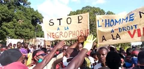 Mort d'Abdoulaye Baldé en Libye : Les jeunes de Guiro Yéro Bocar ont battu le macadam pour réclamer justice.