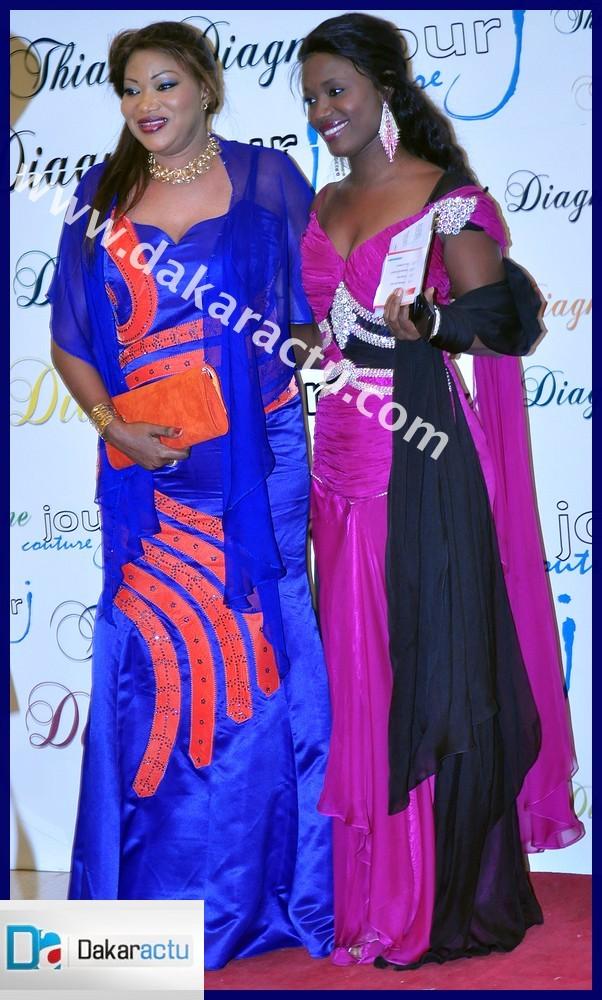 La styliste Nadoura en compagnie de sa ravissante secrétaire