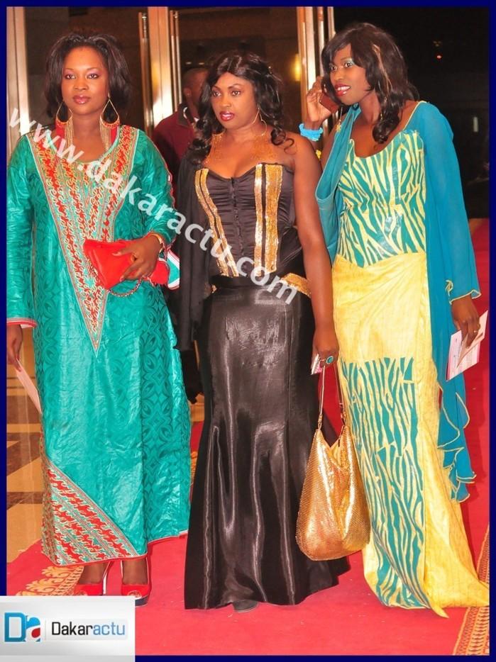 La créatrice Nabou Diagne et ses soeurs à la grande nuit du boubou