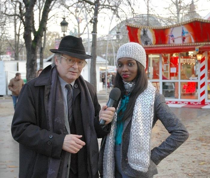 Iman de Channel avec un producteur français avec qui elle doit collaborer pour des émissions panafricaines