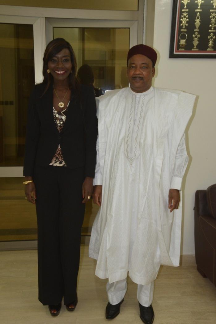Coumba Gawlo reçue par le Président du Niger Mahamadou Issoufou