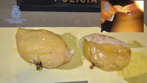 Elle dissimule 1,4 kg de cocaïne dans ses faux seins