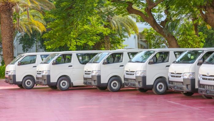 Transport interurbain : Réception par le Chef de l'État des minibus qui vont remplacer les