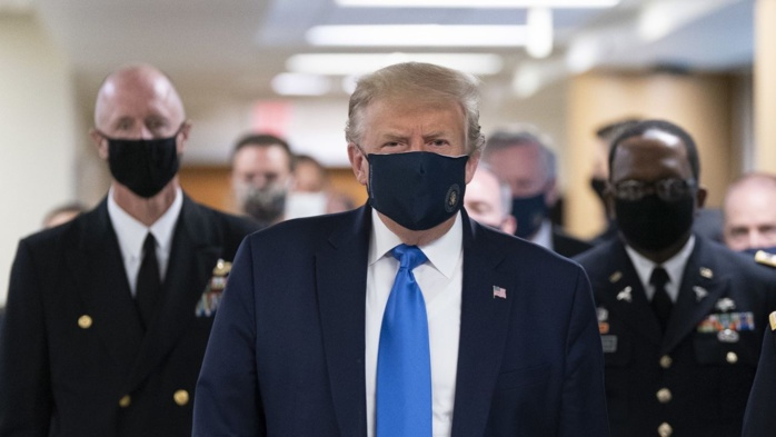 USA : Positif au coronavirus et fatigué, Donald Trump hospitalisé dans un hôpital militaire.