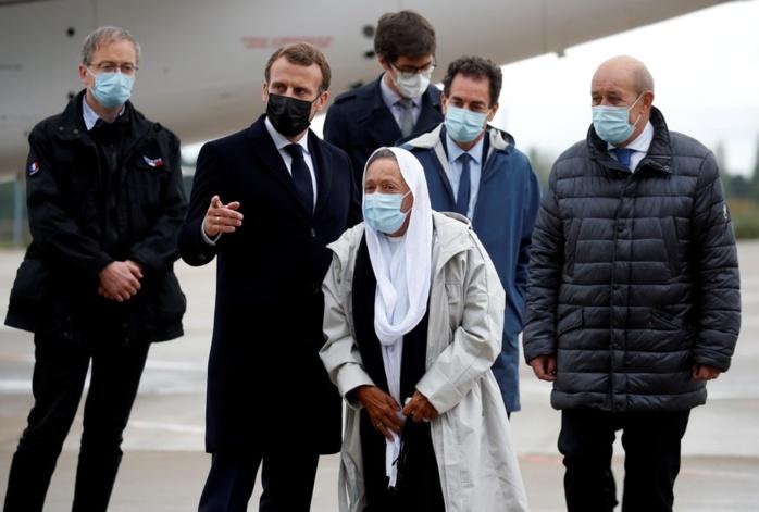 Après sa libération, la travailleuse humanitaire Sophie Pétronin est rentrée en France.