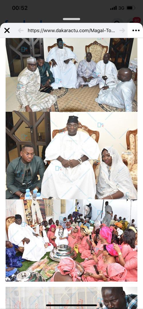 ( IMAGES) TOUBA- ALSAR de Mamadou Racine Sy reçu par le Khalif Général des Mourides