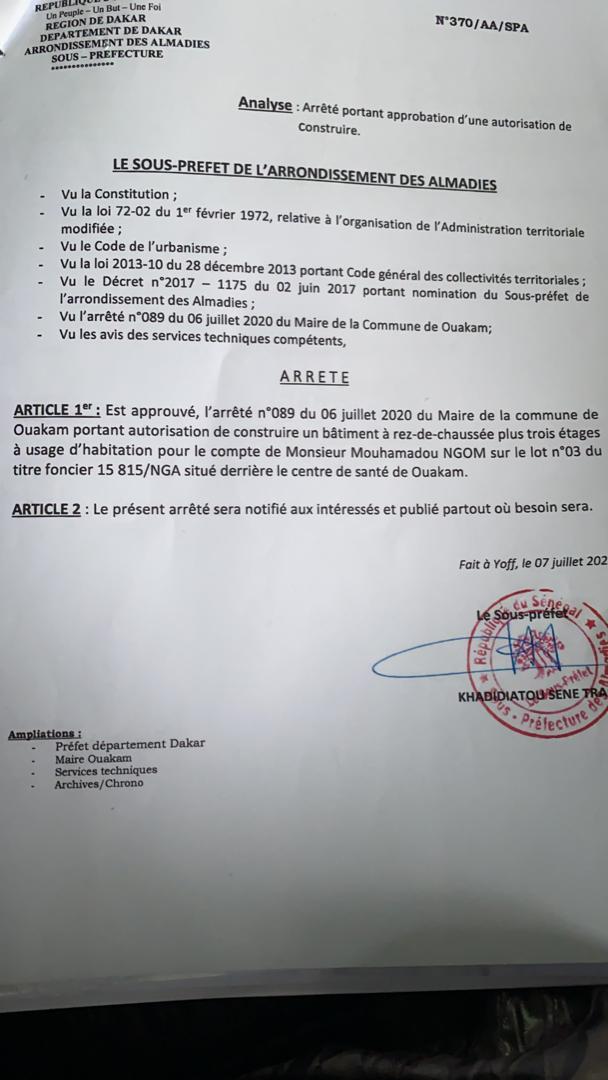 Litige foncier opposant Farba Ngom à la famille Ndoye / Les conseils juridiques du député brandissent des documents... Farba disposé à céder la parcelle si...