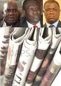Oumar Sarr, Ousmane Ngom et Abdoulaye Baldé en vedette dans les quotidiens