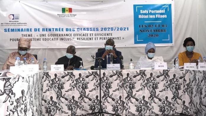 Mamadou Talla MEN au séminaire de rentrée des classes 2020/2021 : «C'est à nous qu'incombe la responsabilité d'opérer la révolution qu'impose le développement d'un système éducatif post-Covid»