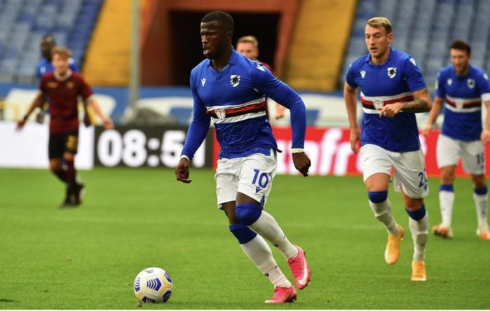 Sampdoria : Touché à la cuisse droite, Keïta Baldé forfait pour la double confrontation contre la Guinée Bissau.