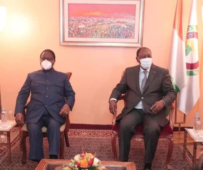 Dialogue politique : Alassane Ouattara salue la confiance manifestée par Henri Konan Bédié.