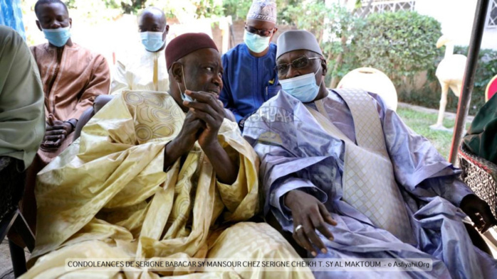 PHOTOS - FANN RESIDENCE - Serigne Babacar Sy Mansour chez Serigne Cheikh Tidiane Sy Al Maktoum.