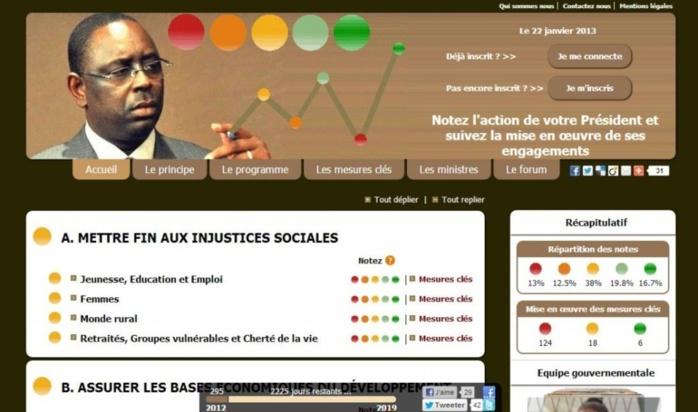 """Sénégal: un """"Mackymètre"""" pour noter en ligne l'action du président Macky Sall"""