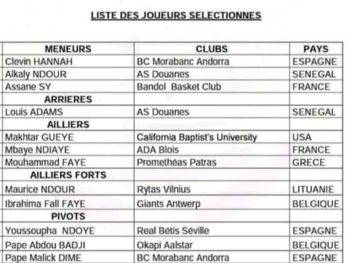 Éliminatoires Afrobasket 2021 : Boniface Ndong publie sa liste définitive de 12 Lions.