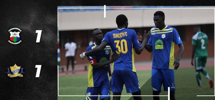 1er tour des préliminaires de la Ligue Africaine des Champions : Teungueth FC arrache le nul contre Gambia AF (1-1)