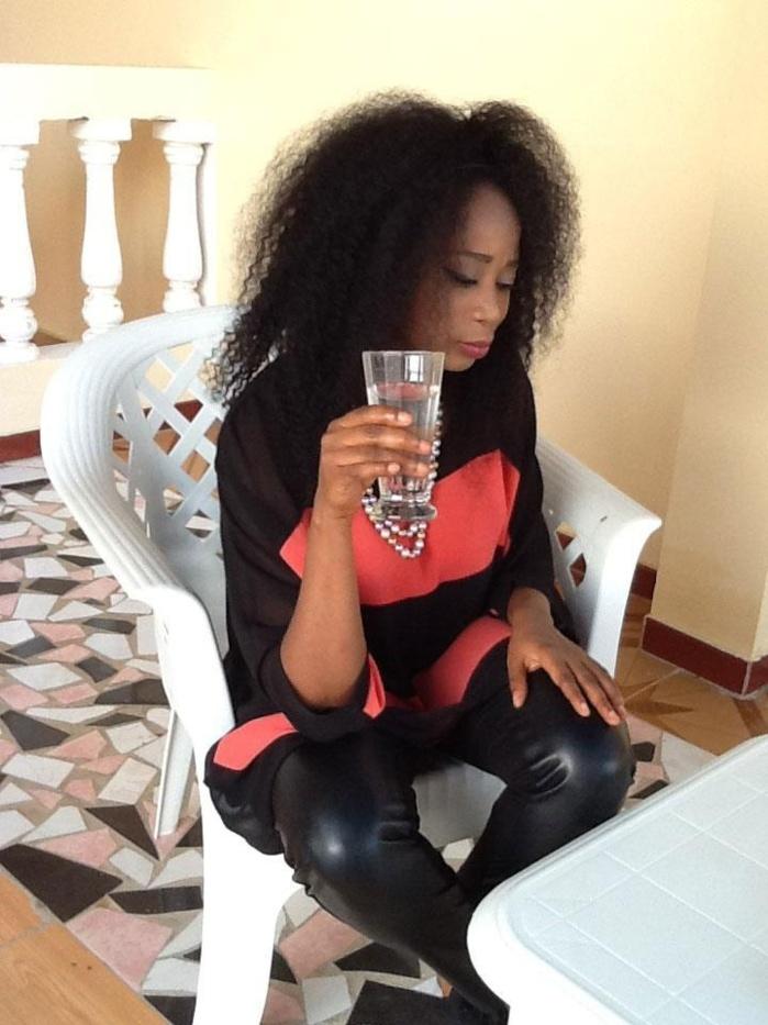 Adiouza Diallo en mode relax !!!!
